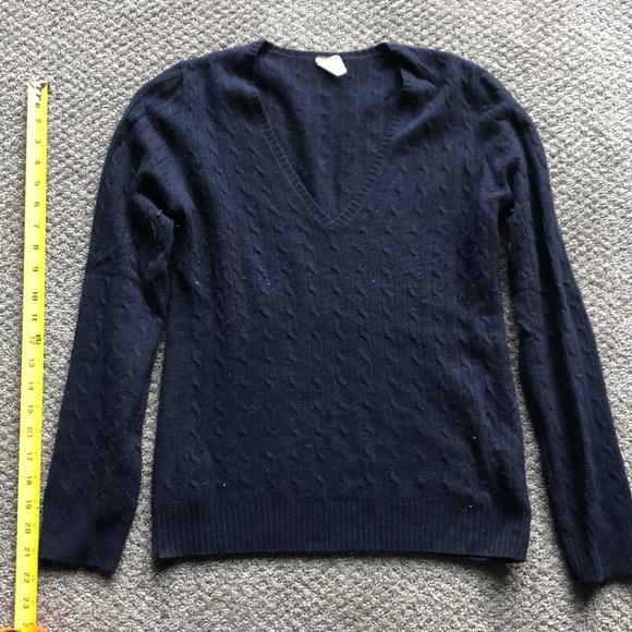 J. Crew Sweaters - 100% cashmere navy J Crew sweater